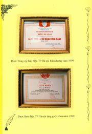 HADIC_Sổ vàng truyền thống-Đảng ủy biểu dương 1999