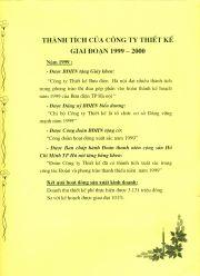 HADIC_Sổ vàng truyền thống_Thành tích 1999-2000